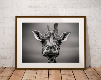 Above Bed Wall Art, Art Print Above Bed, Above Bed Poster, Trending Now Art, Apartment Decorating, Trendy Poster, Giraffe Photo Art