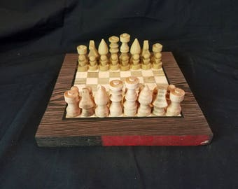 Handcrafted Curly Maple Chess Set