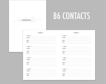 B6 TN Contacts