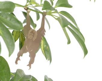 Plant Animals: Adorable creatures to decorate your houseplants with |  sloth, chameleon, orangutan
