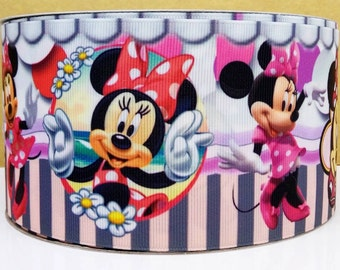 """1.5"""" Minnie Mouse Grosgrain Ribbon by the Yard   Y15"""