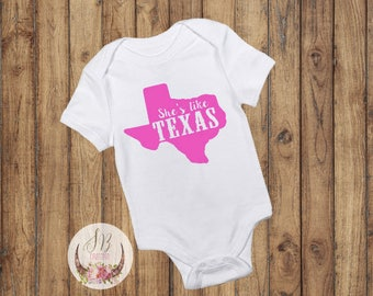 Texas baby shower etsy shes like texas onesie baby girl clothes texas baby custom baby gift negle Gallery