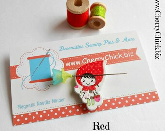 Girl Needle Minder - Needle Minder - Needle Magnet - Quilting Needle Minder -  Gift for Quilter - Embroidery - Sewing Gifts - Cross Stitch