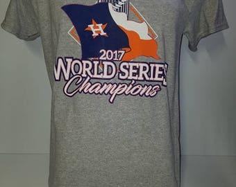 Houston Astros T shirt - Houston logo - World Series Champions