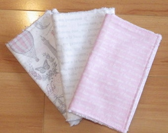 French Girl Burp Cloths