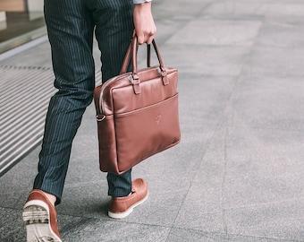 Leather messenger bag men - Laptop bag men - Mens laptop briefcase - leather briefcase men - Brown leather bag men - Laptop bag 15 inch
