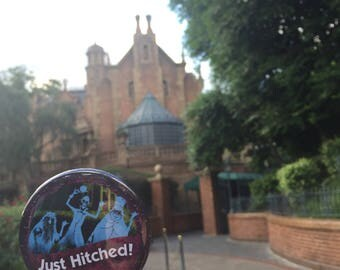 "Haunted Mansion - Just Hitched! - 3"" Button"
