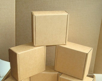 """2x4x4.5"""" Blank Boxes; Set of 3 Cardboard Boxes. Gift Packaging Boxes; Brown Kraft Card Boxes for DIY; Candy Buffet Boxes; Packaging Boxes"""