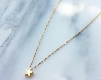 The STARina Necklace, Gold Star Choker Necklace - Star Necklace - Silver Choker - Layering Necklace - Trendy Choker - Festival Jewelry