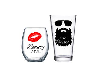 Engagement gifts glasses   Etsy
