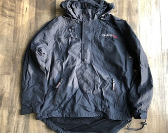 Chaps Ralph Lauren Nylon Jacket Mens Size S Vintage Pullover Half Zip Jacket