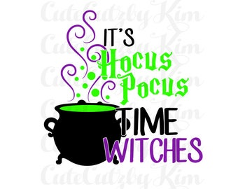 Halloween svg, dxf, jpg, png, witches, cauldron, hocus pocus