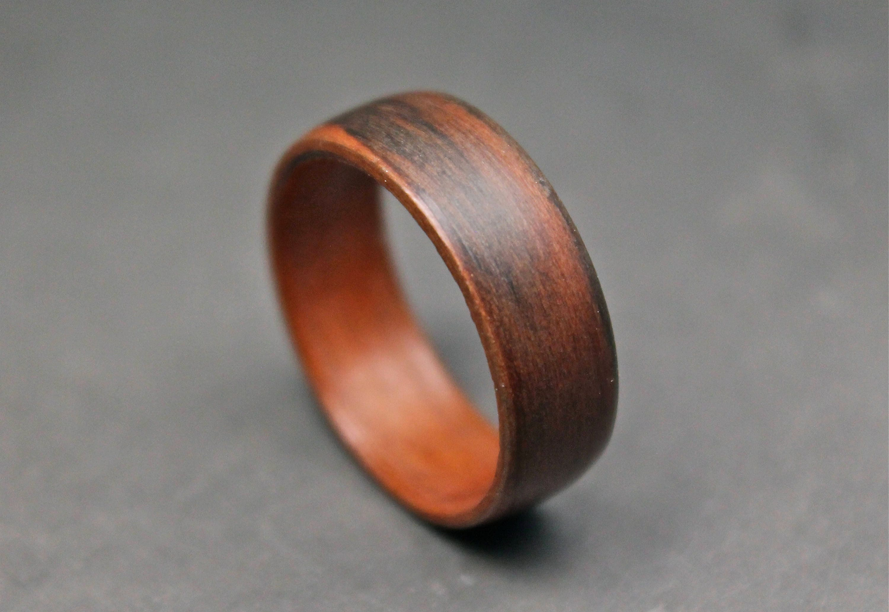 Wooden Ring Indian Rosewood Wedding Band Wood Ring Bentwood