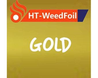 HT WeedFoil Heat Transfer Vinyl - Iron On - HTV - Gold Foil