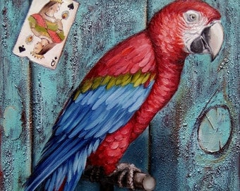The Queen of Spades Oil Painting birds