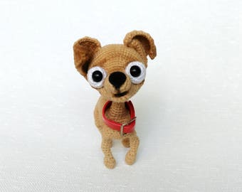 Crochet dog Amigurumi Chihuahua plushie toy Stuffed chihuahua toy Crochet chihuahua Christmas gift for dog lover Gift New year gift 2018