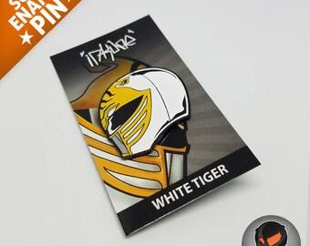 """White Tiger """"Soft Enamel Pin"""""""