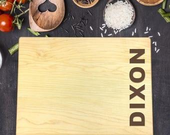 Personalized Cutting Board, Engraved Cutting Board, Custom Cutting Board, Wedding Gift, Housewarming Gift, Anniversary, Last Name, B-0086