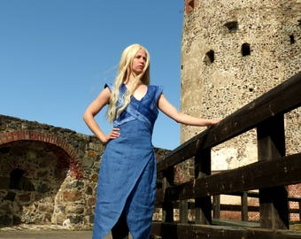 Daenerys Targaryen costume - Daenerys Khaleesi blue dress - Game of Thrones cosplay