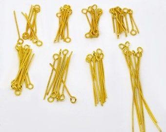 800 gold 1.6-5 cm eye pins