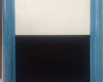 Vintage Framed Chalk/Corkboard
