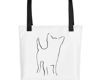 Chihuahua Tote Bag, Market Bag, Library Tote Bag, Dog Tote, Chihuahua Gift, Dog Lover Gift, Pet Tote Bag, Dog Print Bag, Caryall