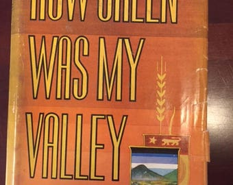 How Green Was My Valley Autographed and Inscription by Richard Llewellyn, Published 1940
