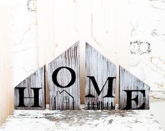 Home Shelf sign, Shelf decor, Self standing sign, Stand up wood sign, Rustic wood home decor, Desk sign, Farmhouse home decor, Block sign