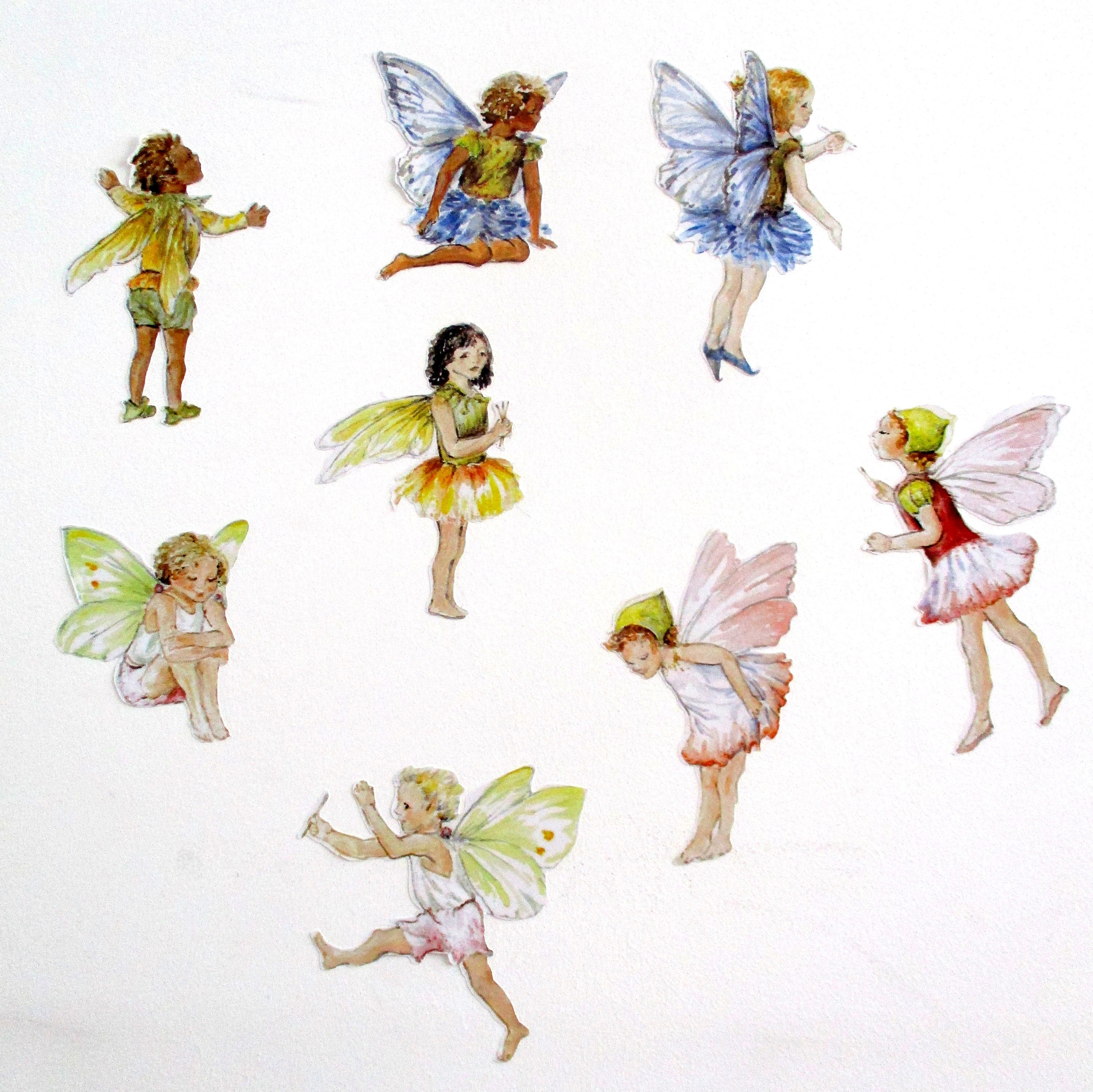 Rainbow Wall Stickers Uk Fairy Wall Stickers Fairy Wall Decals Set Of 8 Watercolor