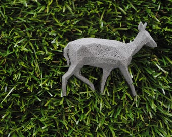 Doe Reflective 3D printed Polygonal Brooche