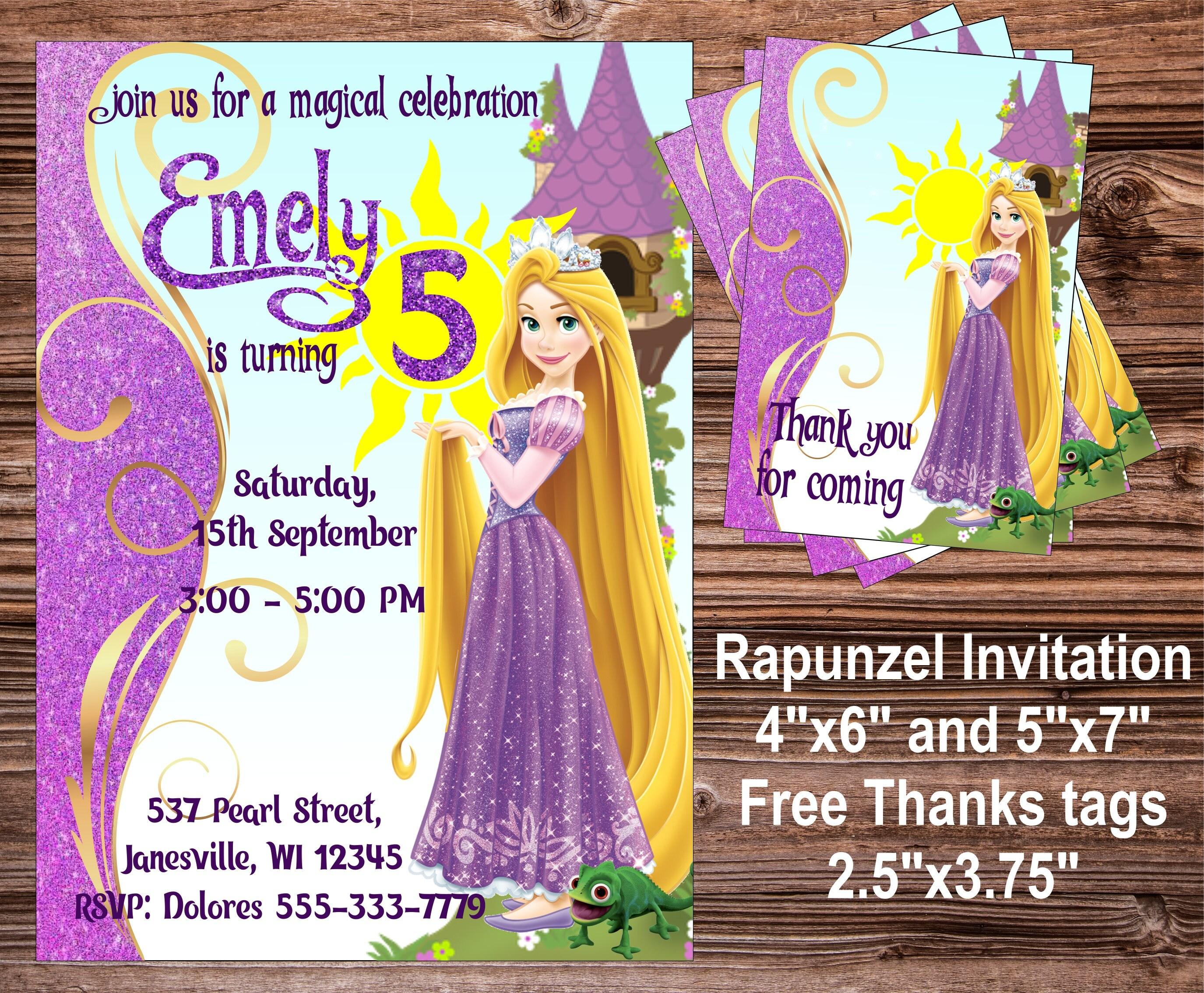 Unique Rapunzel Birthday Party Invitations Mold Invitation Card