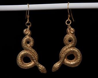 Serpent Snake Kundalini Earrings