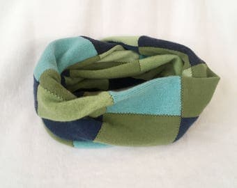 Cashmere Scarf, Infiniti Scarf, Winter Scarf, scarf, Cashmere, Patchwork, Gift, Gifts for her, Women's Scarf