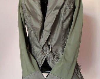 Bolero Jacket grey green modern cut lobster clasp