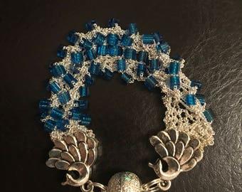 Hand knitted Miyuki bead bracelet