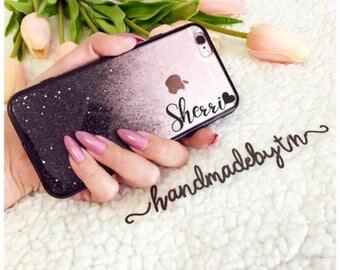 Black Gold Glitter phone case iPhone 8 case iPhone 8 PLUS case iPhone X case iPhone 10 case iPhone 7 case iphone 7 plus case iPhone case
