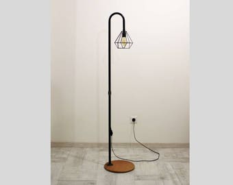 Handmade Floor Lamp, Metal Lamp Shade, Industrial Lighting, Loft Floor Lamp,  Iron