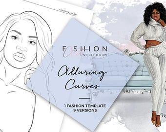 Croquis template etsy alluring curves printable fashion template fashion illustration template fashion croquis fashion drawing pronofoot35fo Gallery