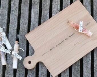 Housewarming gift cutting board wedding gift custom cutting board anniversary gift wood cutting board personalized gift personalized board