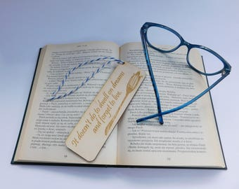 Harry Potter Bookmark, Harry Potter quote, wooden gift, reading lovers, handmade souvenir, own inscription, reading time. Collection