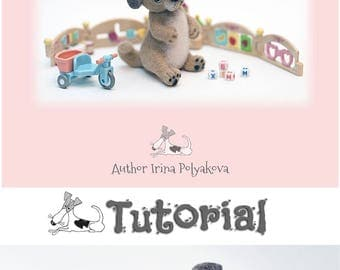 Video Tutorial How to needle felt Puppy Needle felting tutorial DIY Needle Felted Dog Easy to follow Instructions Step by step Needle Felte