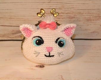 Marie Aristocats wallet / Marie Aristocats crochet purse