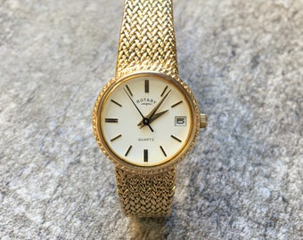 vintage Rotary Quartz gold tone Watch