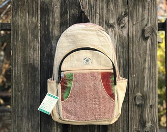 Pure Hemp backpack, Handmade in Himalayas