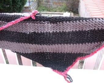 Pink shawl scarf/shawl edging