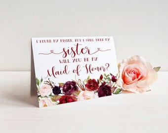 I found my mister but I still need my sister Bridesmaid Card - Bridesmaid proposal - Maid of Honor, Matron of Honor, Proposal Card