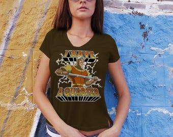 I Have A Quarter - Hawkins Arcade Stranger Things 2 LADIES Slim FIT T-Shirt -  1980's Dragon's Lair Game Parody Clothing