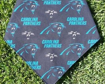Carolina Panthers Reversible Snap on Pet Bandana