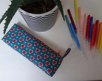 Red and blue coated cloth case