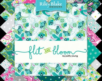 Flit and Bloom Bundle by Patty Young for Riley Blake, Complete Collection, Choose the Cut, Hummingbirds